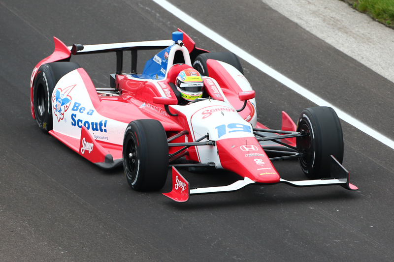 Justin's P5 in 2013 Indy 500 was an incredible drive. Photo: IndyCar
