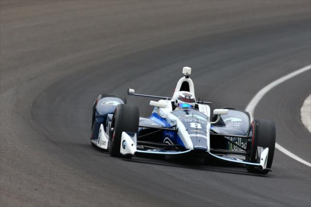 Chilton at speed. Photo: IndyCar