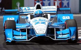 LONG BEACH, CA - APRIL 17: Simon Pagenaud is the winner of the 42nd Toyota Grand Prix of Long Beach on April 17, 2016 in Long Beach, California. (Photo by Frederick M. Brown/Getty Images)