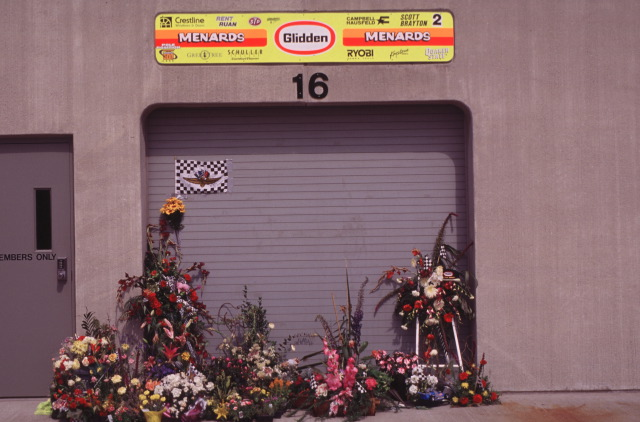 The Brayton garage. Photo: IMS Archives