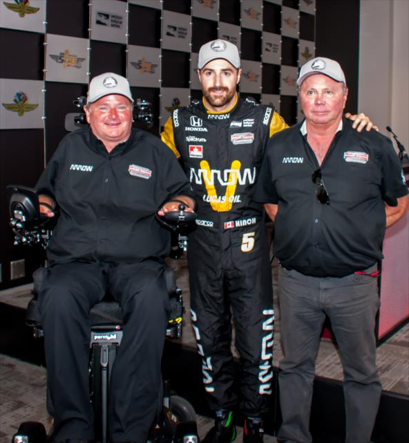 Schmidt, Hinchcliffe and Ric Peterson. Photo: IndyCar