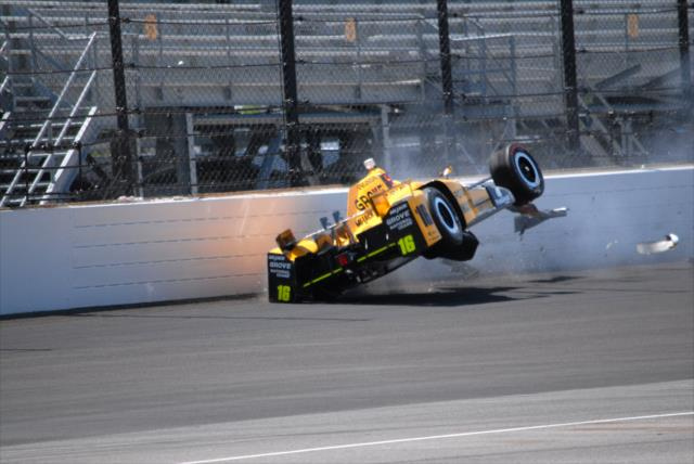 Pigot recovered from this crash. Photo: IndyCar