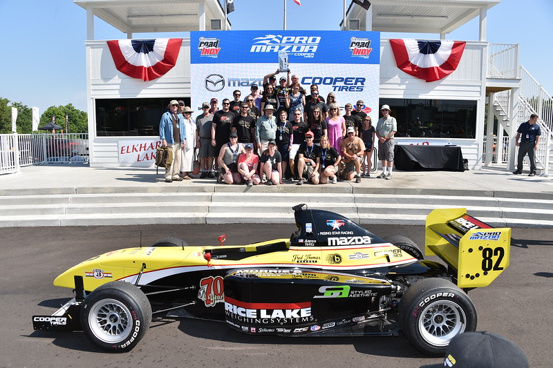 The Telitz family and friend brigade. Photo: Indianapolis Motor Speedway, LLC Photography