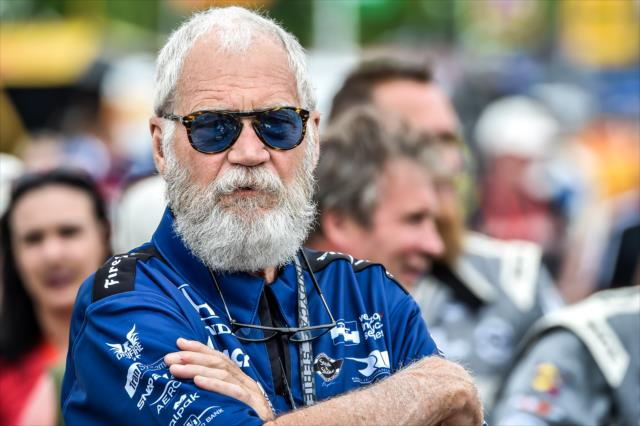 Letterman and his beard. Photo: IndyCar