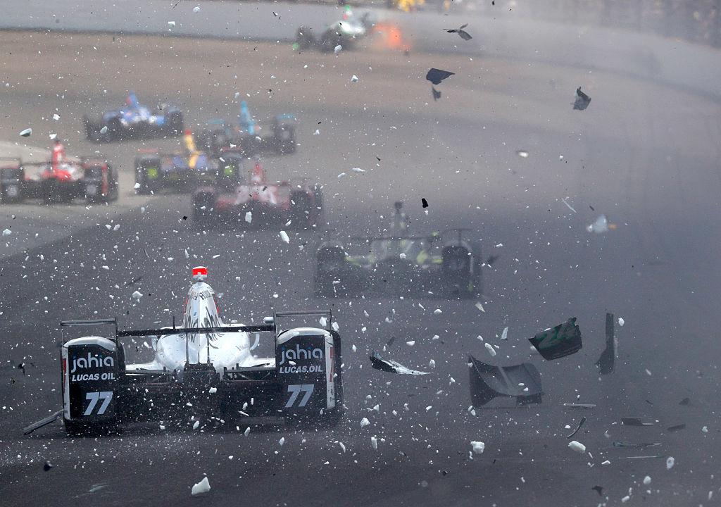 Karam's crash was big, but still safe. Photo: Getty Images