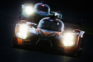 LE MANS, FRANCE - JUNE 16: The Michael Shank Racing Ligier of Laurens Vanthoor, John Pew and Oswaldi Negri drives during qualifying for the Le Mans 24 Hour race at the Circuit de la Sarthe on June 16, 2016 in Le Mans, France. (Photo by Ker Robertson/Getty Images)