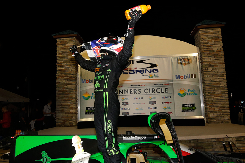 Derani after winning Sebring. Photo courtesy of IMSA