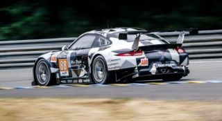 The No. 88 Porsche that Patrick Long will drive in the 24 Hours of Le Mans.
