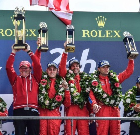 Mattioli, Segal, Sweedler and Bell. Photo: Scuderia Corsa