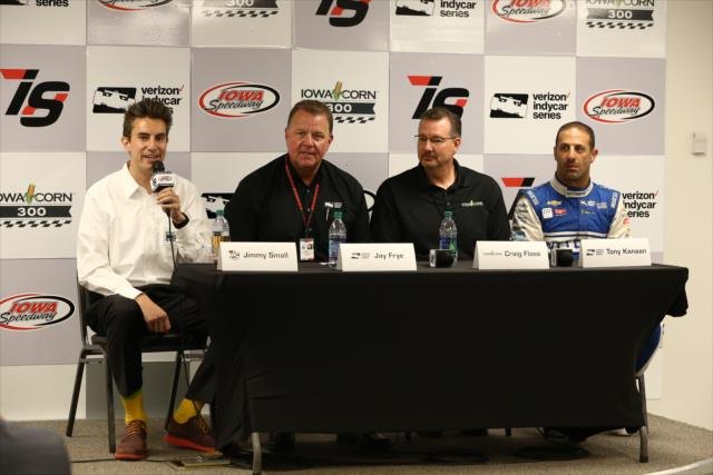 Small, Frye, Floss and Kanaan. Photo: IndyCar