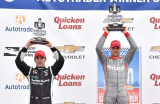 Simon Pagenaud, left, and Will Power. Photo: IndyCar