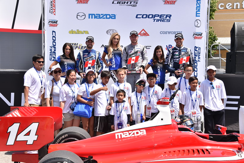 Indy Lights winner. Photo: Indianapolis Motor Speedway, LLC Photography