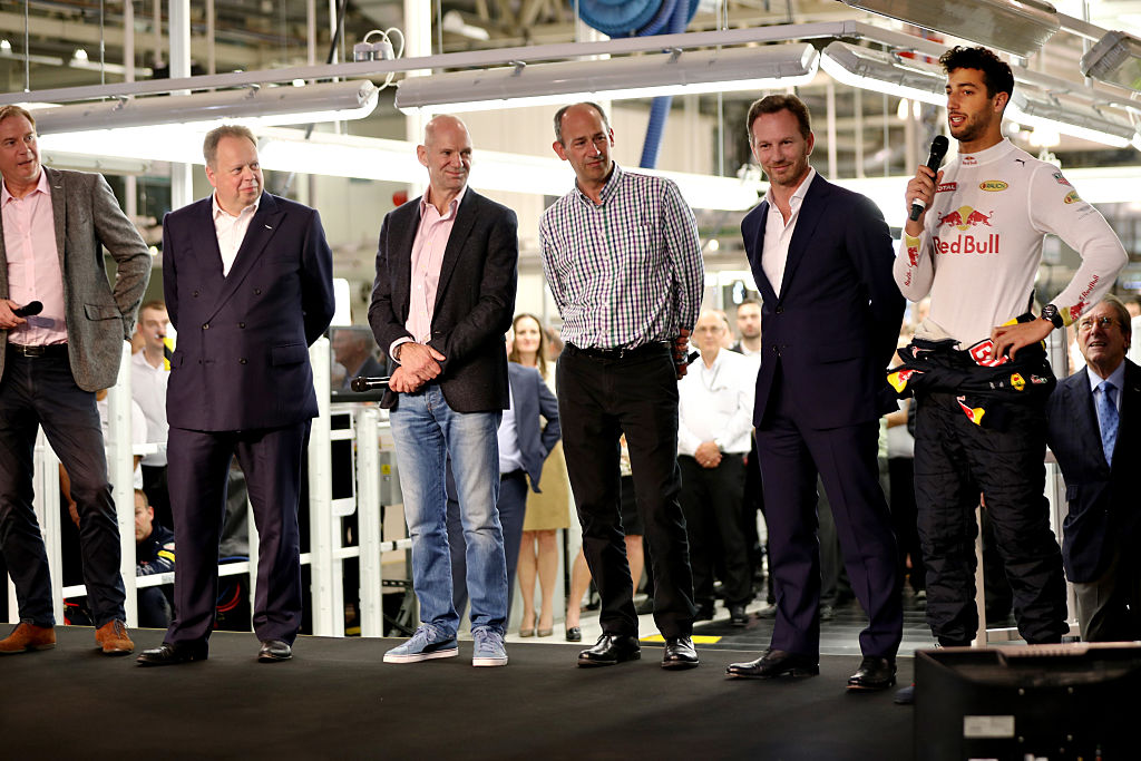 <> at the Aston Martin and Red Bull Racing Project AMRB 001 Unveil on July 5, 2016 at the Aston Martin Headquarters in Gaydon, England on July 5, 2016 in Gaydon, England.