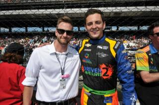 Krohn (left) with longtime friend Stefan Wilson. Photo: IndyCar