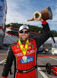 Shawn Langdon after his first win of the season last month at Bristol, Tennessee.