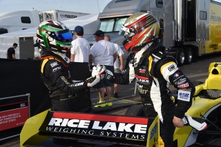 O'Ward and Telitz. Photo: Indianapolis Motor Speedway, LLC Photography