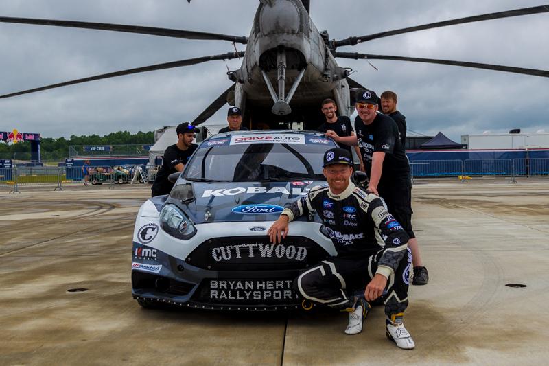 Sandell and BHR. Photo: Bryan Herta Rallysport