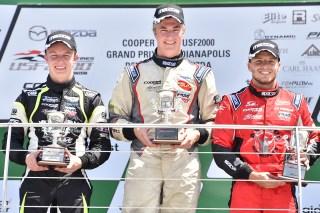 Thompson, Martin, Franzoni. Photo: Indianapolis Motor Speedway, LLC Photography