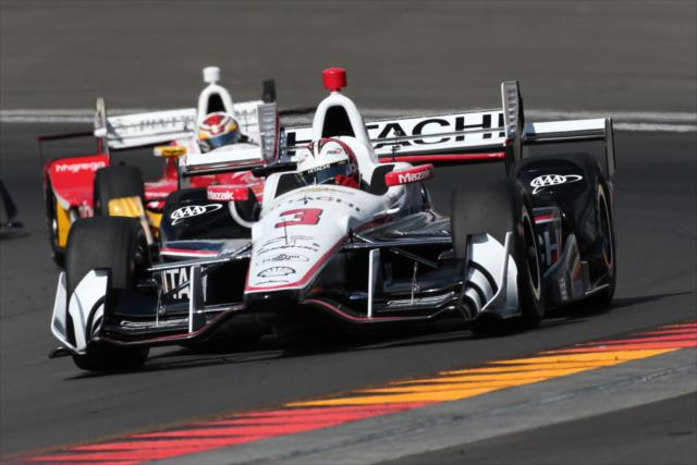 Castroneves and Munoz. Photo: IndyCar