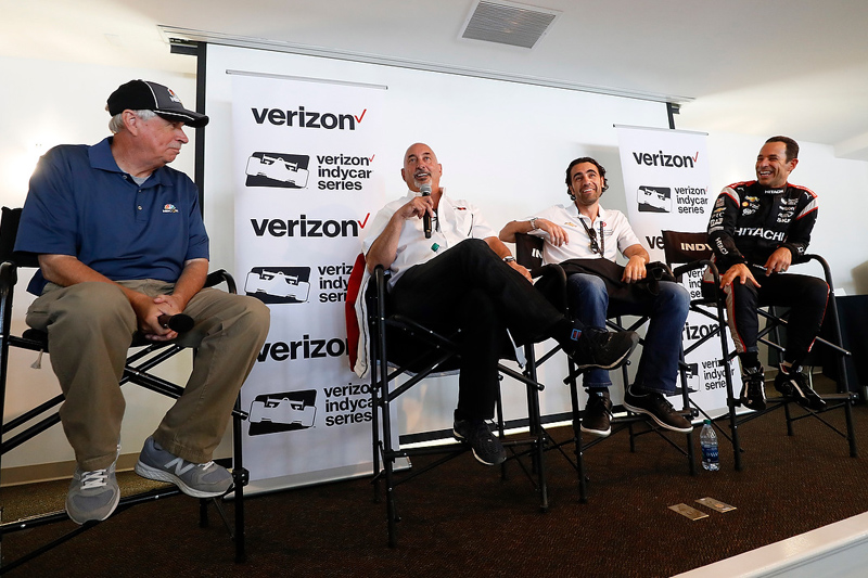 Miller, Rahal, Franchitti and Castroneves. Photo: LAT Photo USA