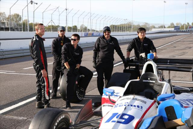 Bourdais and the Coyne crew. Photo: IndyCar