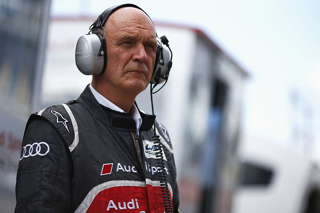 LE MANS, FRANCE - JUNE 11: Wolfgang Ullrich of Austria, Head of Audi Motorsport looks on during practice on June 11, 2014 in Le Mans, France. (Photo by Andrew Hone/Getty Images)