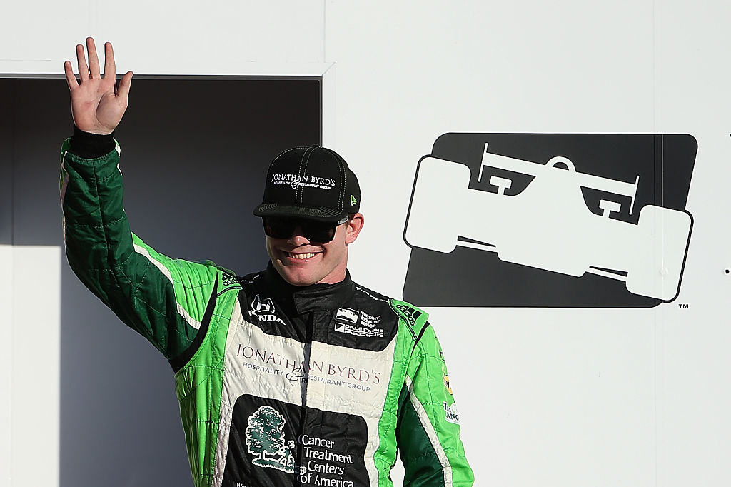 AVONDALE, AZ - APRIL 02: Conor Daly, driver of the #18 Dale Coyne Racing Honda IndyCar is introduced before the Phoenix Grand Prix at Phoenix International Raceway on April 2, 2016 in Avondale, Arizona. (Photo by Christian Petersen/Getty Images)