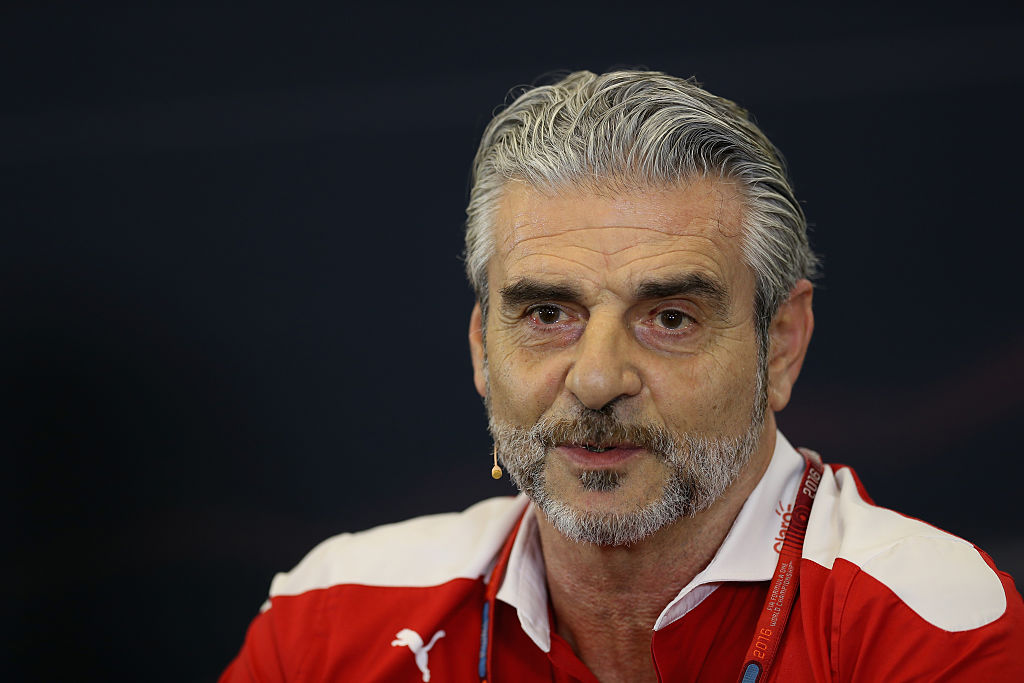 AUSTIN, TX - OCTOBER 21: Ferrari Team Principal Maurizio Arrivabene in the Team Principals Press Conference during practice for the United States Formula One Grand Prix at Circuit of The Americas on October 21, 2016 in Austin, United States. (Photo by Mark Thompson/Getty Images)