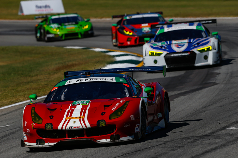 The No. 63 won a stacked GTD field. Photo courtesy of IMSA