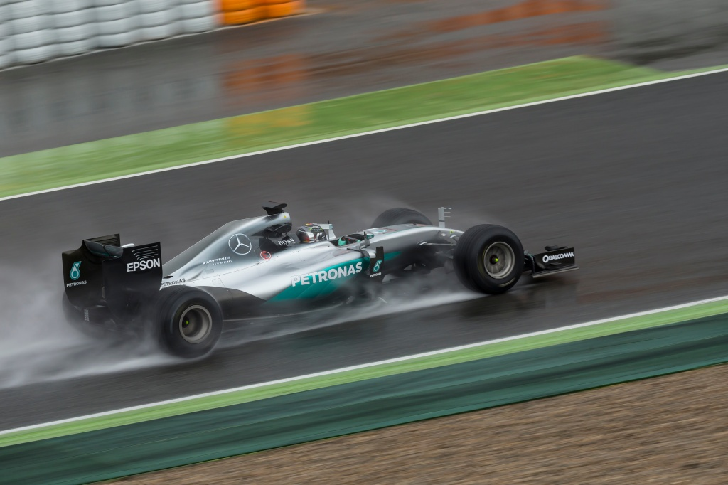 And then it got wet for Rosberg later on. Photo: Pirelli