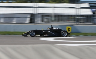 Megennis in the new USF-17. Photo: Indianapolis Motor Speedway, LLC Photography