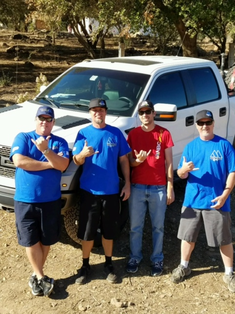 "It's time to play ""spot the Baja rookie."" From left to right, Steve Schuler, Shawn Huddleston, myself, Tom Calhoun. Photo courtesy Shawn Huddleston"