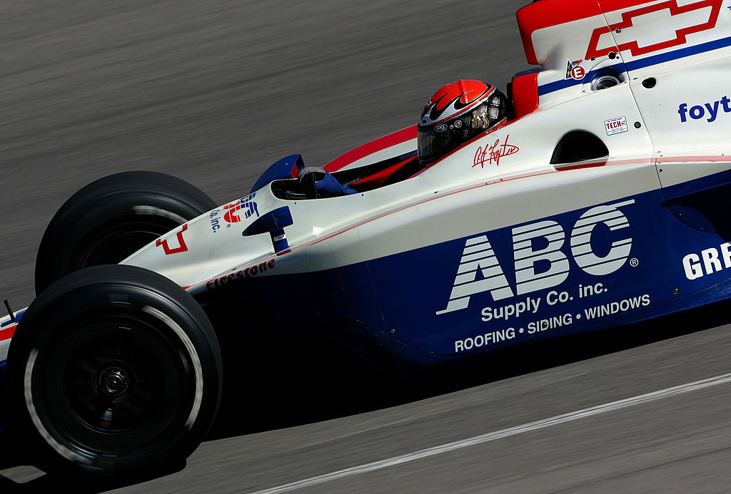 PIKES PEAK, CO- AUGUST 21:  A.J.Foyt IV, driver of the #14 ABC Supply Co. Dallara Chevrolet, competes during the Indy Racing League IndyCar Series Honda Indy 225 on  August 21, 2005 at the Pikes Peak International Speedway in Pikes Peak, Colorado.  (Photo by Darrell Ingham/Getty Images)