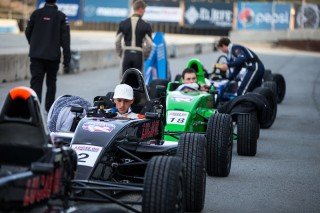 USF2000 shootout featured Lucas Oil School of Racing cars. Photo: Indianapolis Motor Speedway, LLC Photography