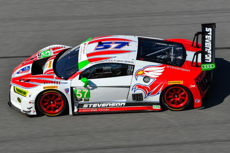 No. 57 Stevenson Motorsports Audi R8 LMS. Photo courtesy of IMSA