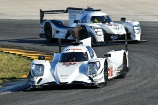No. 81 DragonSpeed Oreca 07 and No. 52 PR1/Mathiasen Motorsports Ligier JS P217. Photo courtesy of IMSA
