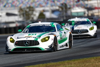 Nos. 33 and 50 Riley Motorsports Mercedes-AMG GT3s. Photo courtesy of IMSA