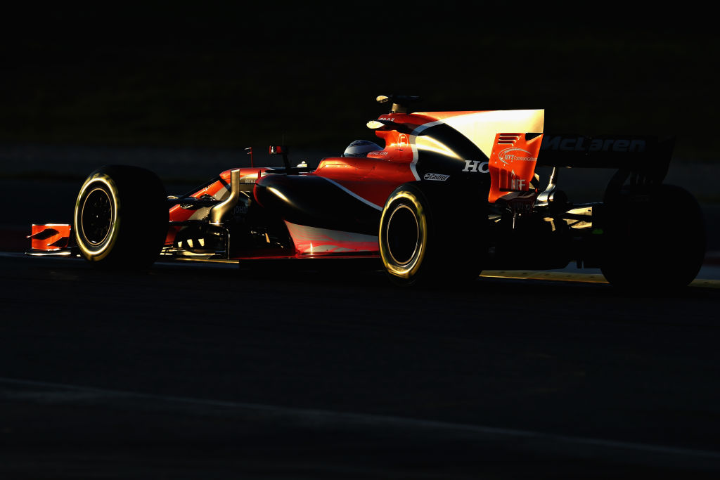 MONTMELO, SPAIN - FEBRUARY 27: Fernando Alonso of Spain driving the (14) McLaren Honda Formula 1 Team McLaren MCL32 on track during day one of Formula One winter testing at Circuit de Catalunya on February 27, 2017 in Montmelo, Spain. (Photo by Mark Thompson/Getty Images)