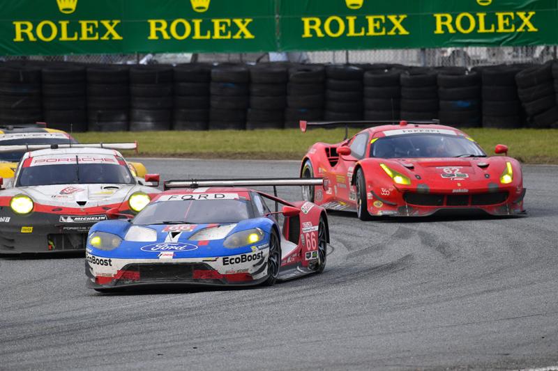 Ford, Ferrari, Porsche, Corvette. Photo courtesy of IMSA