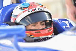 The eyes, the helmet is all Herta... this one's Colton instead of dad Bryan though. Photo: Indianapolis Motor Speedway, LLC Photography