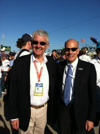 Then-ACO President Jean-Claude Plassart with then-ALMS President (now IMSA President) Scott Atherton. Photo: Tony DiZinno