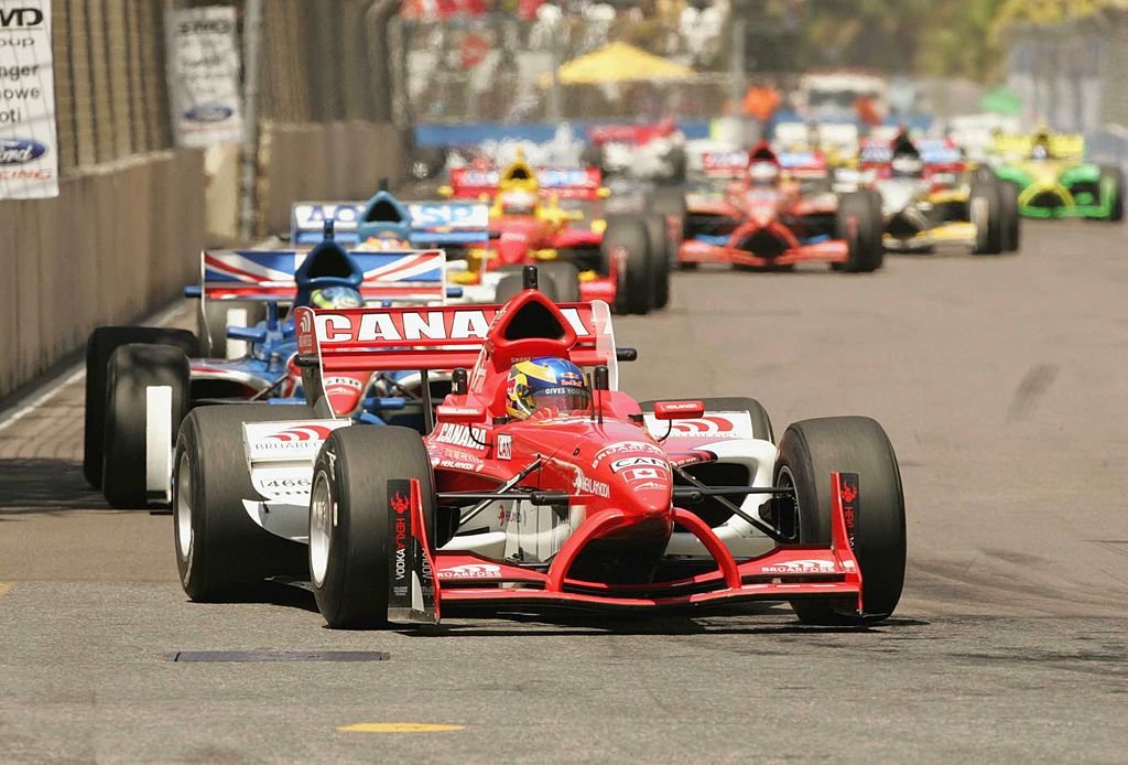 DURBAN, SOUTH AFRICA - FEBRUARY 24: Canada's Robert Wickens in action during the A1GP Sprint Race on February 24, 2008 in Durban, South Africa. (Photo by Tertius Pickard/Gallo Images/Getty Images)