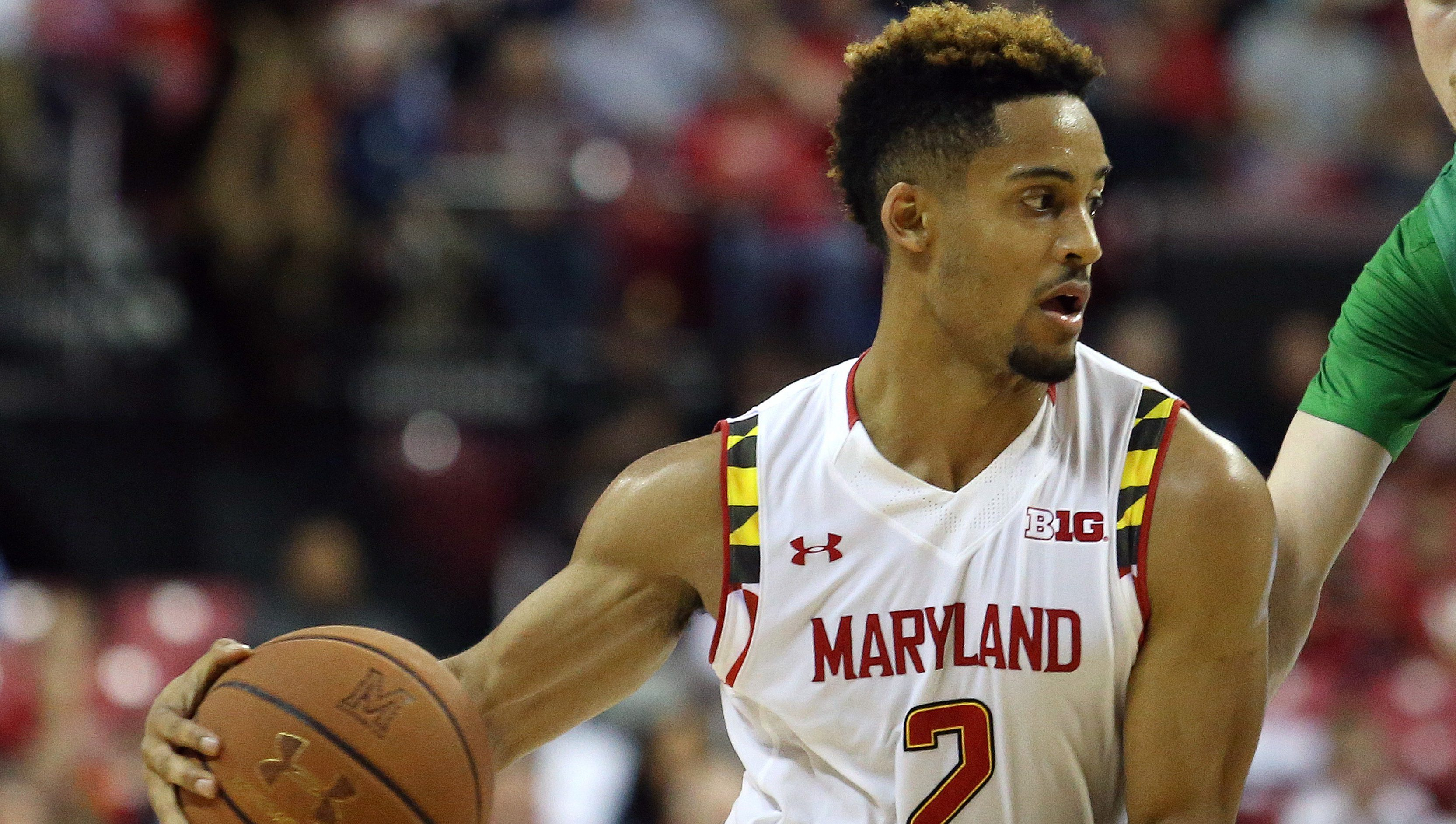 Maryland guard Melo Trimble (AP Photo/Matt Hazlett)
