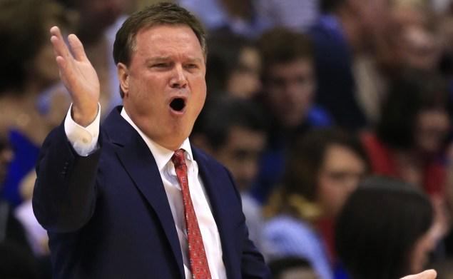 Kansas head coach Bill Self (AP Photo/Orlin Wagner)