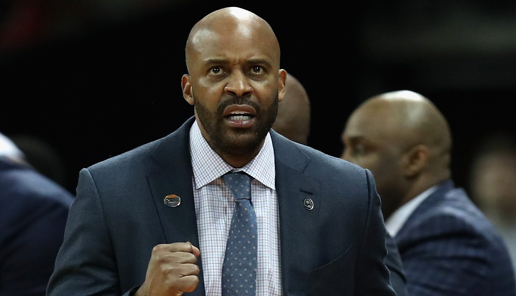 SPOKANE, WA - MARCH 18: Head coach Cuonzo Martin of the California Golden Bears reacts to a play in the second half against the Hawaii Warriors during the first round of the 2016 NCAA Men's Basketball Tournament at Spokane Veterans Memorial Arena on March 18, 2016 in Spokane, Washington. (Photo by Ezra Shaw/Getty Images)