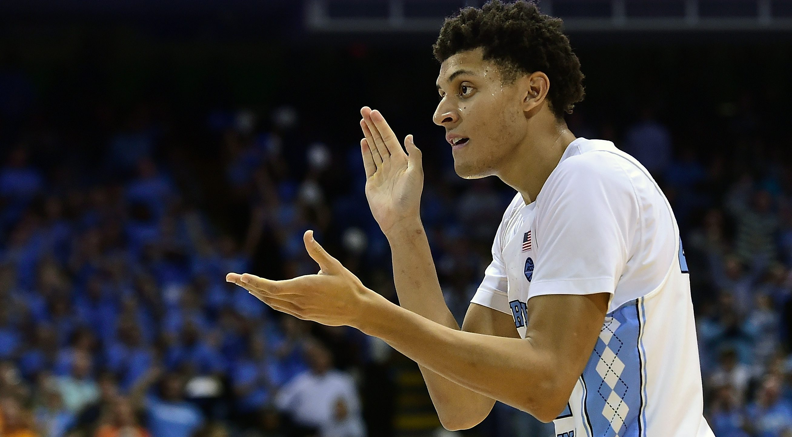 CHAPEL HILL, NC - DECEMBER 11: Justin Jackson #44 of the North Carolina Tar Heels reacts after a play during their game against the Tennessee Volunteers at Dean Smith Center on December 11, 2016 in Chapel Hill, North Carolina. (Photo by Jared C. Tilton/Getty Images)