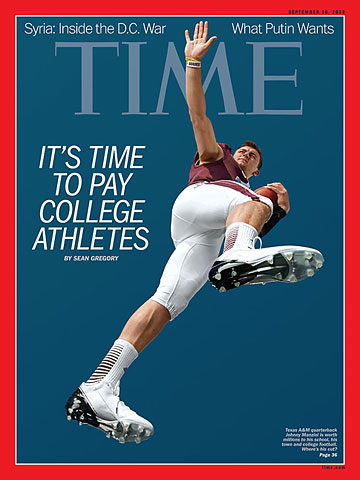 Johnny Manziel Time Cover