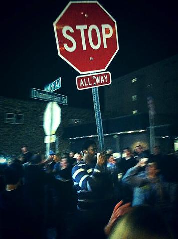 David Irving Stop Sign