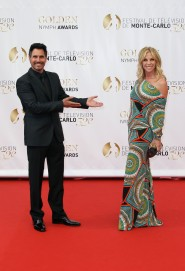 US actor Don Diamont poses with his wife