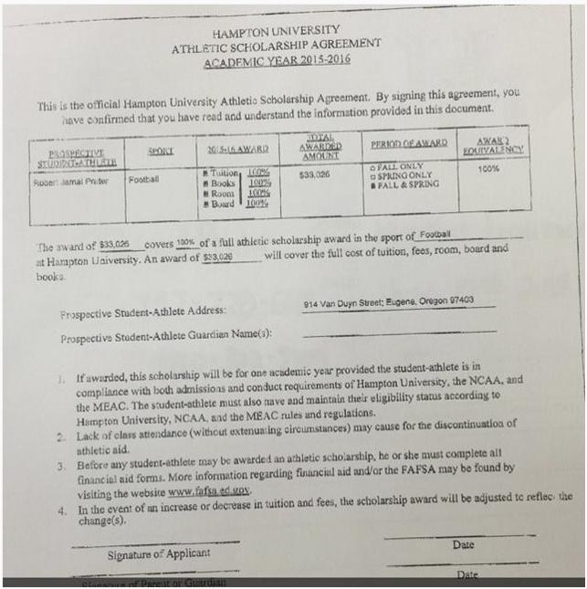 Scholarship Agreement